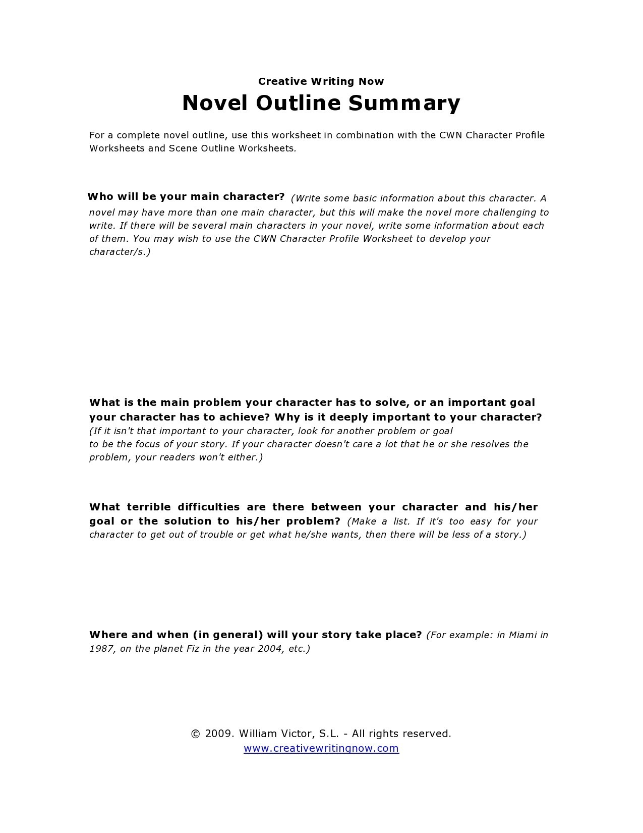 Free story outline template 12