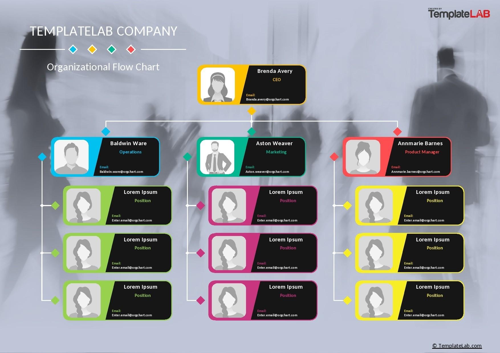 Free Organizational Flow Chart Template