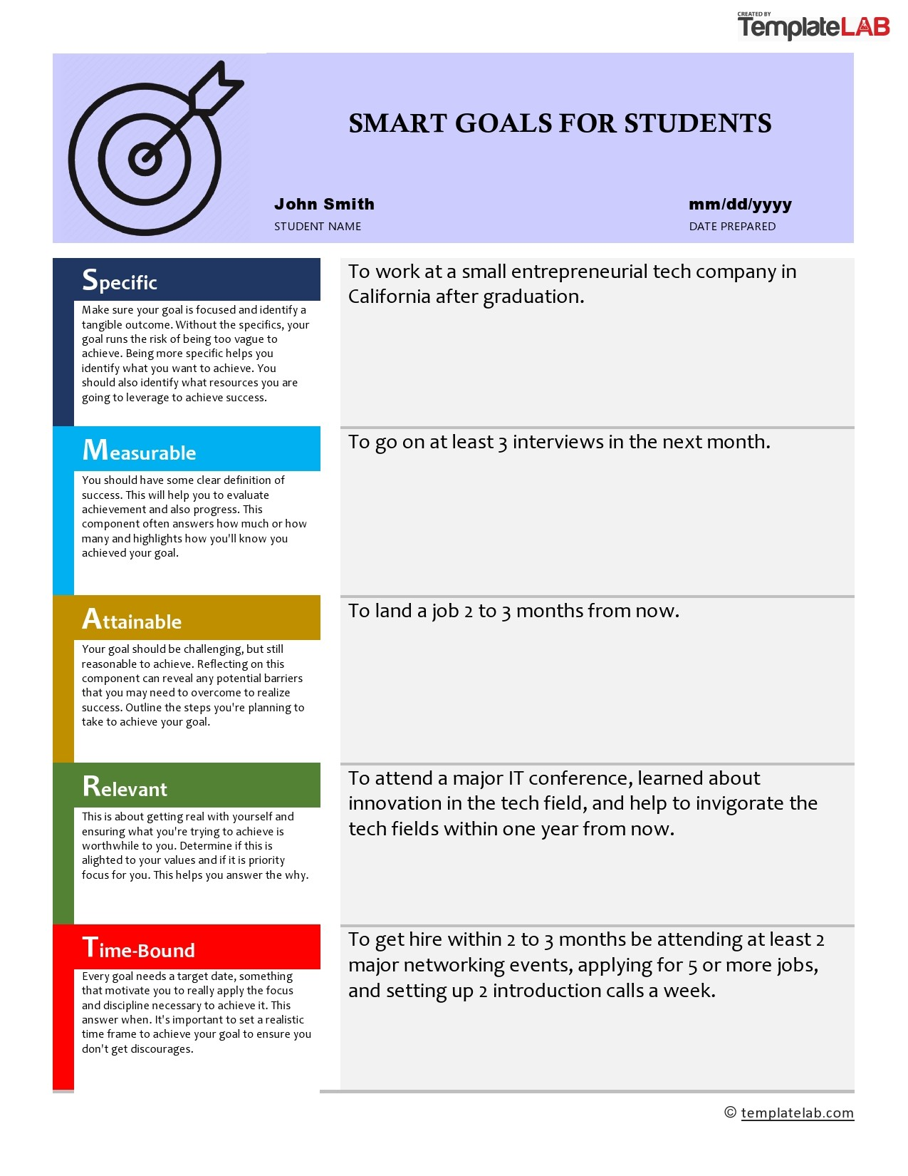 45 Smart Goals Templates Examples Worksheets ᐅ Templatelab