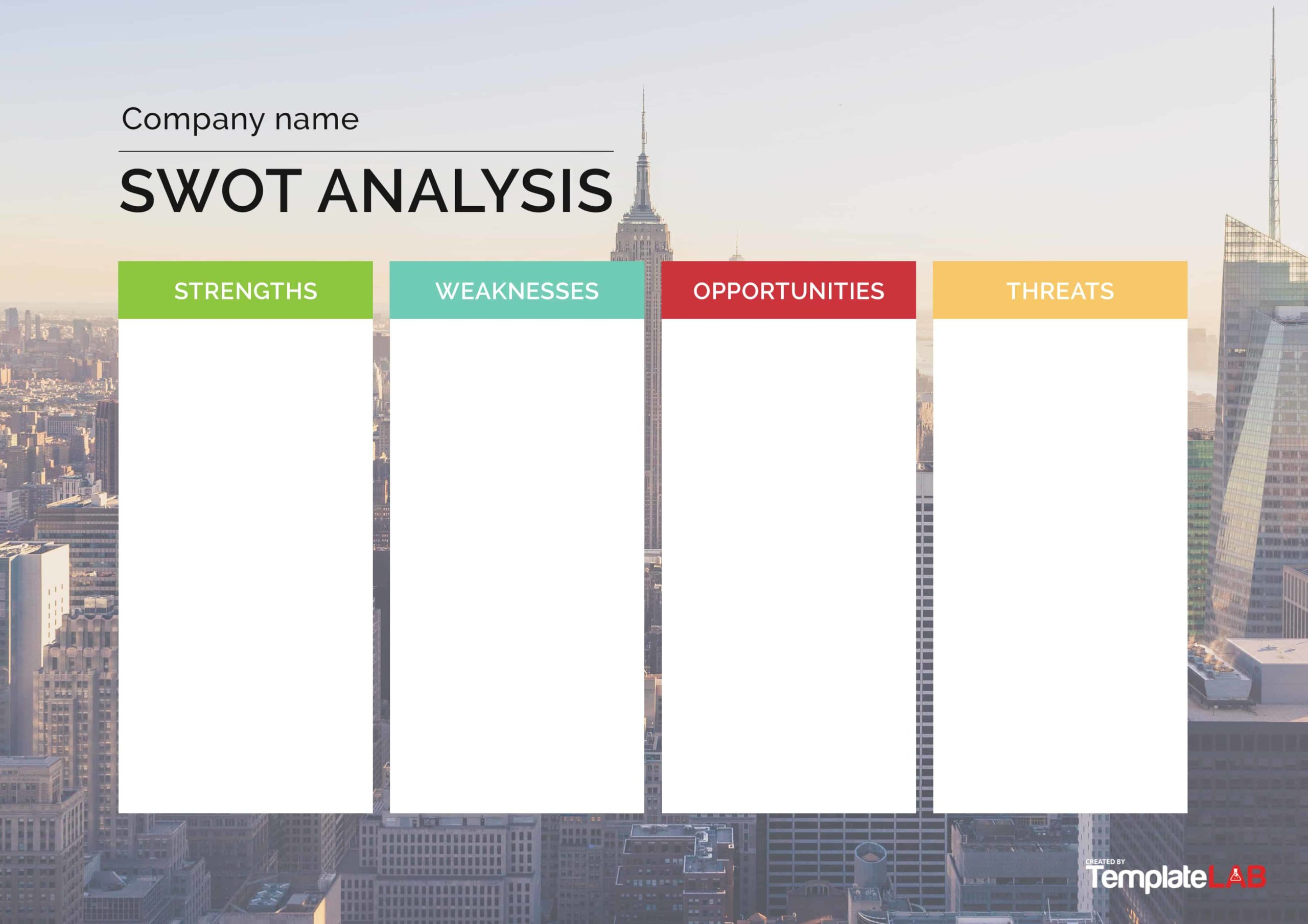 Free SWOT Analysis Template 02
