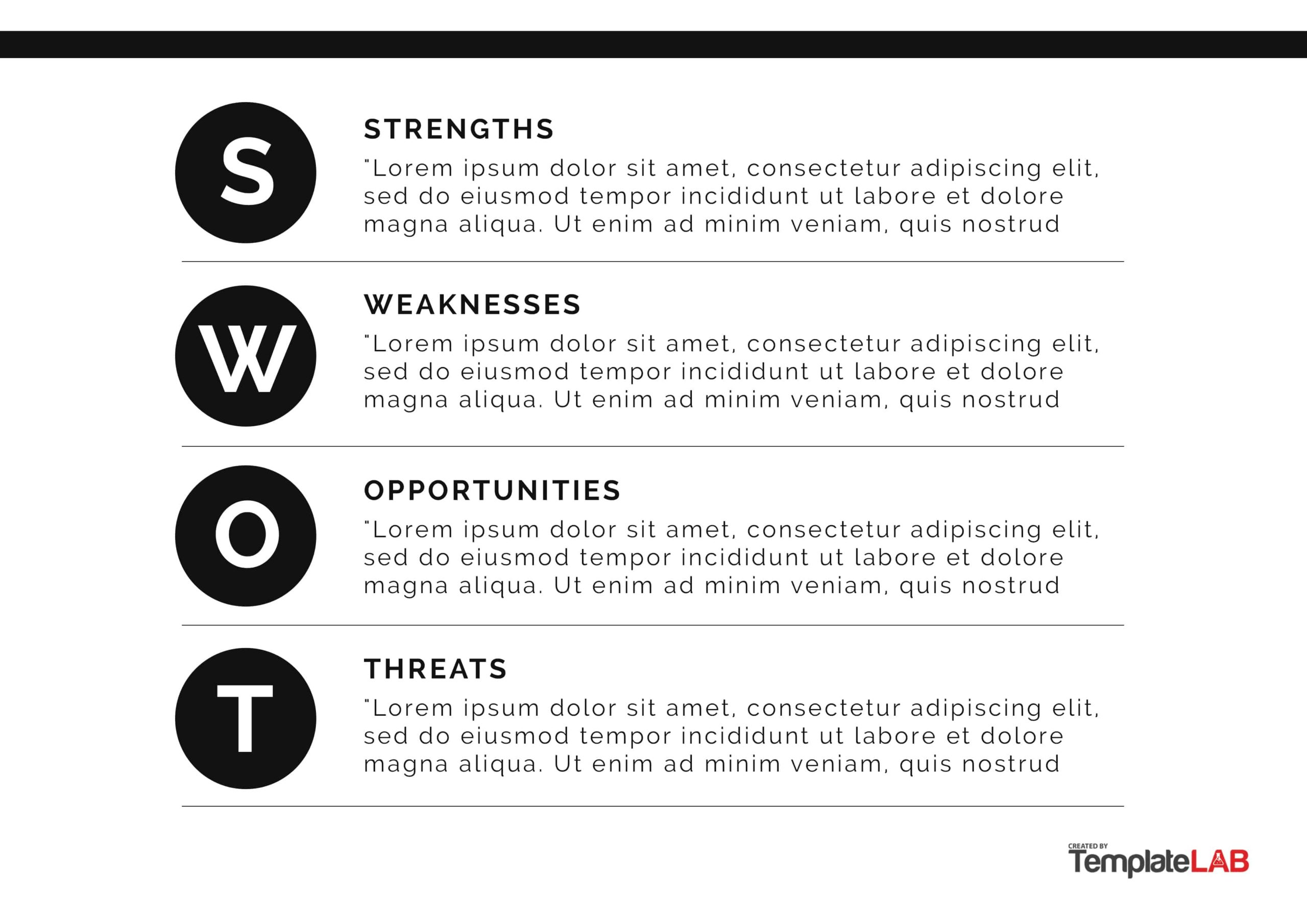 Free SWOT Analysis Template 05