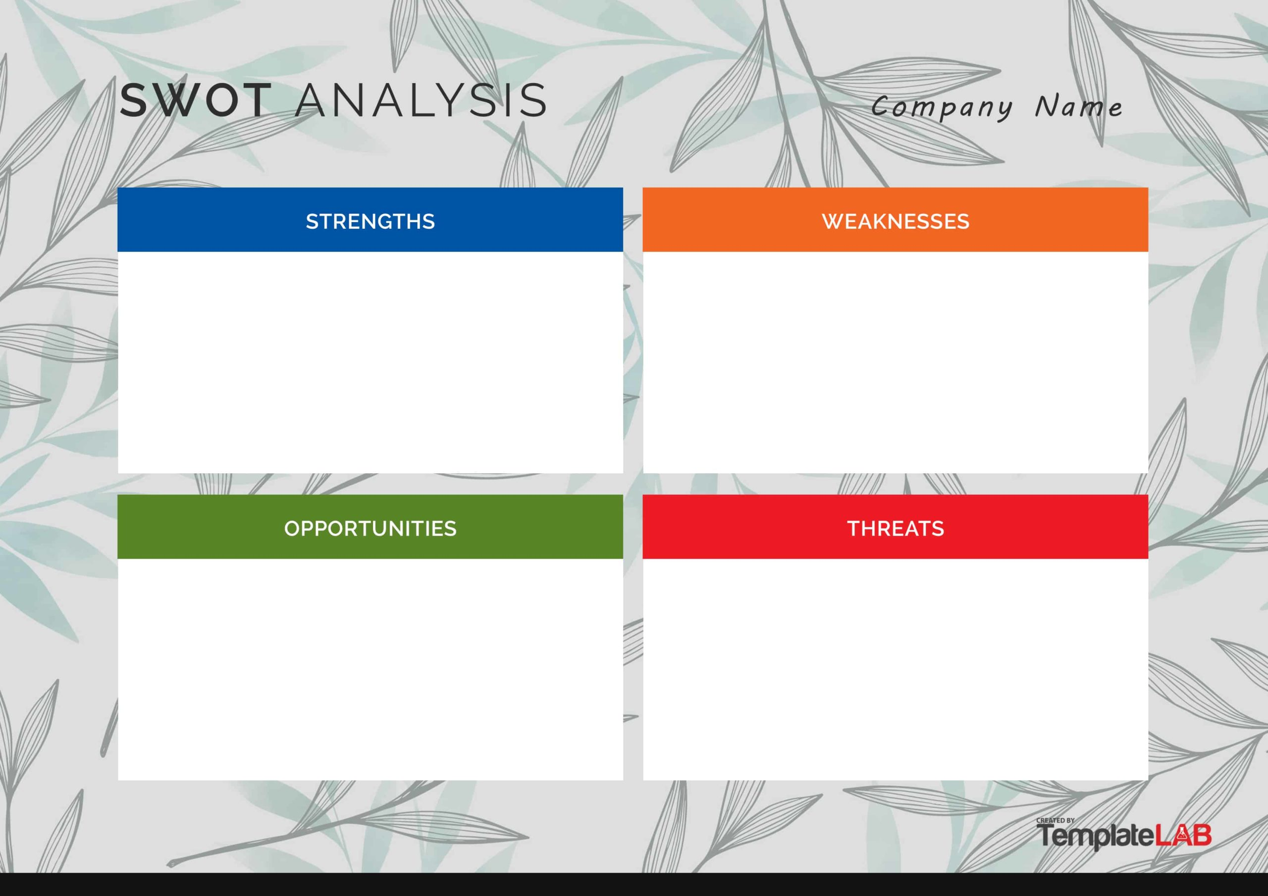 Free SWOT Analysis Template 06