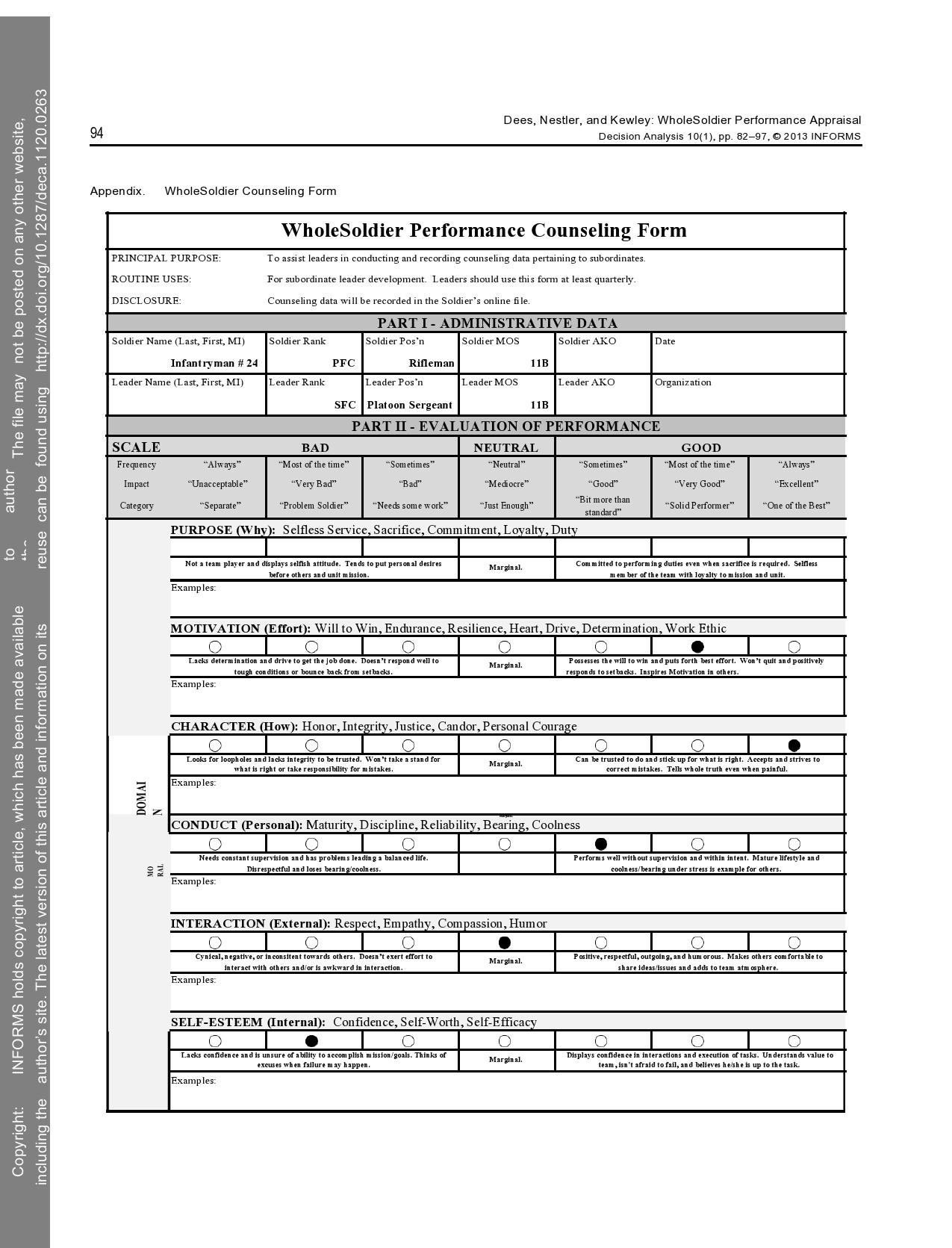Free army counseling form 08