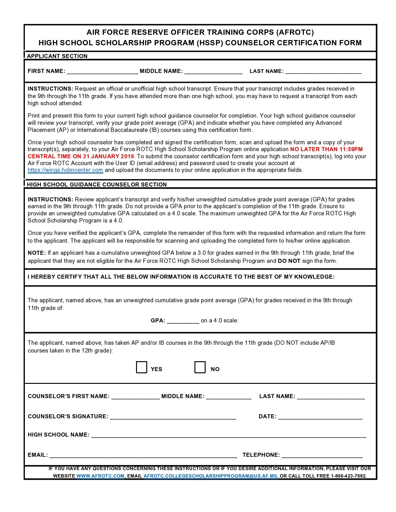 Free army counseling form 27