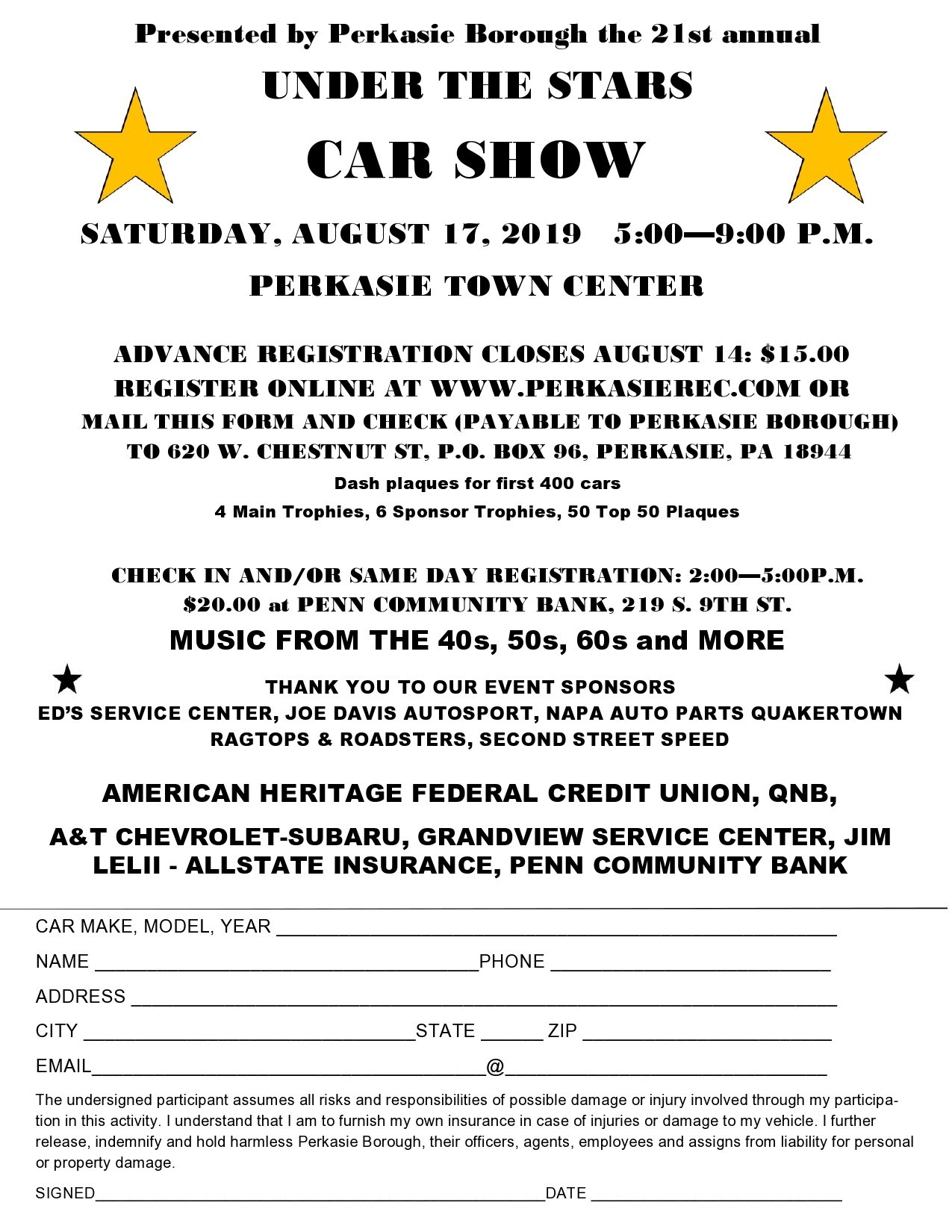 Free car show flyer 14