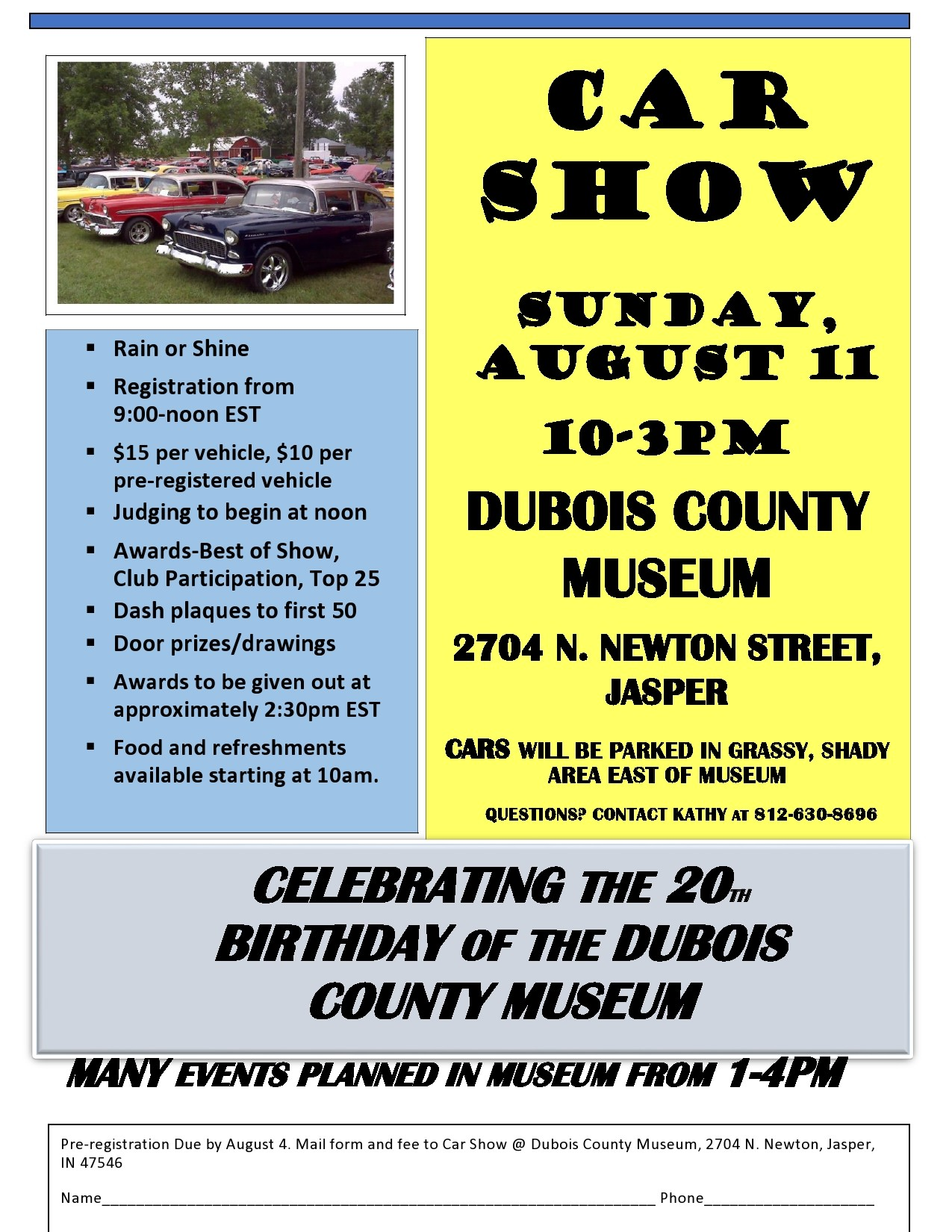 Free car show flyer 34