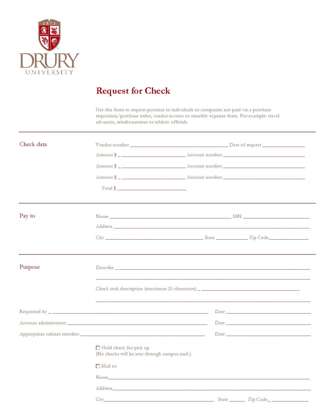 Free check request form 04