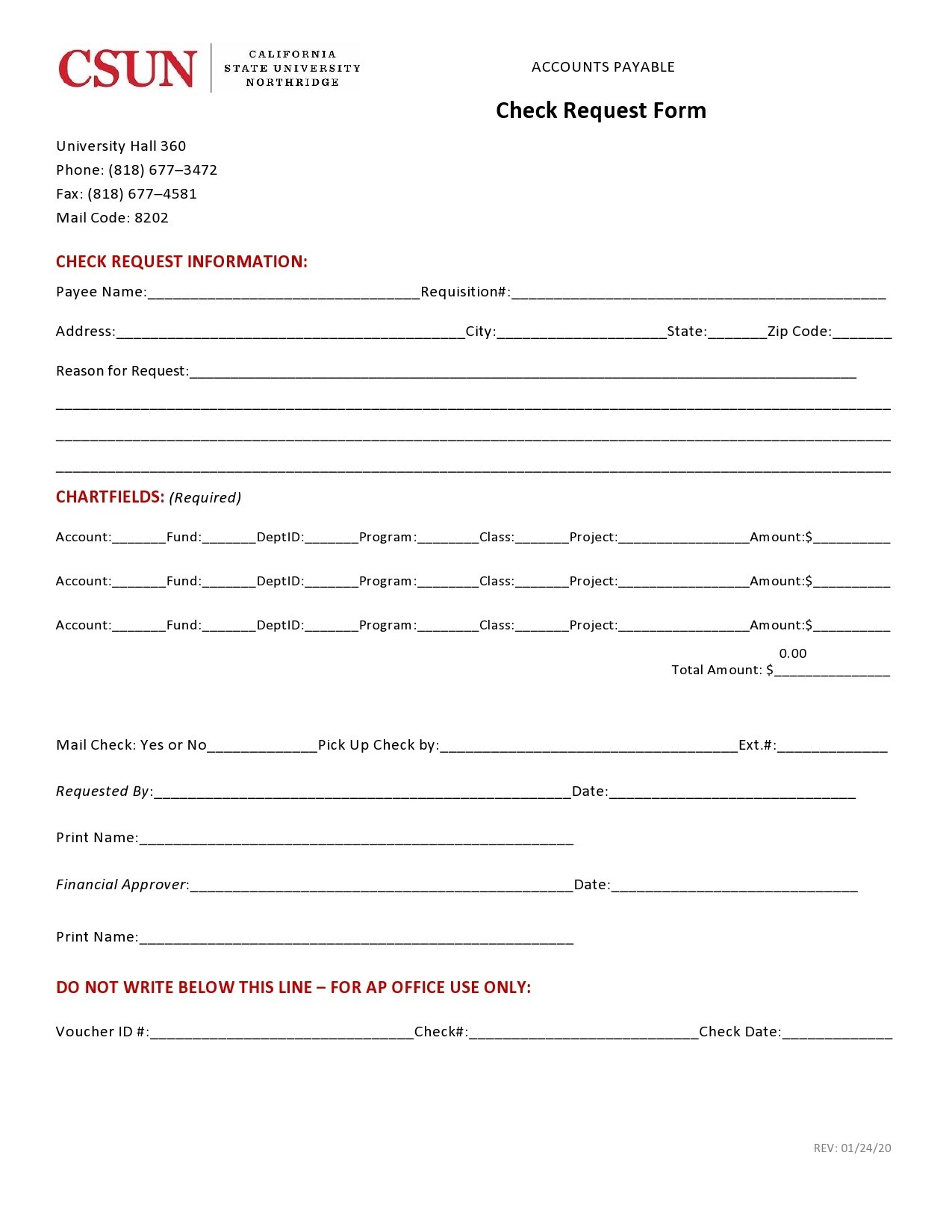 50 Free Check Request Forms Word Excel Pdf Á… Templatelab