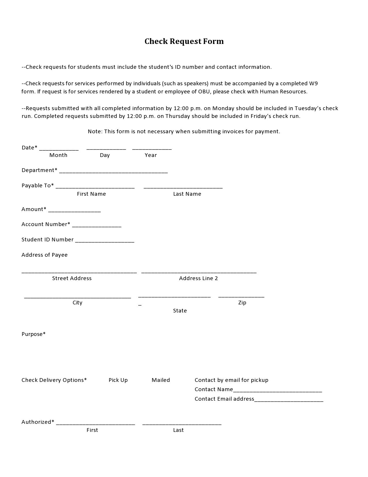 Free check request form 06