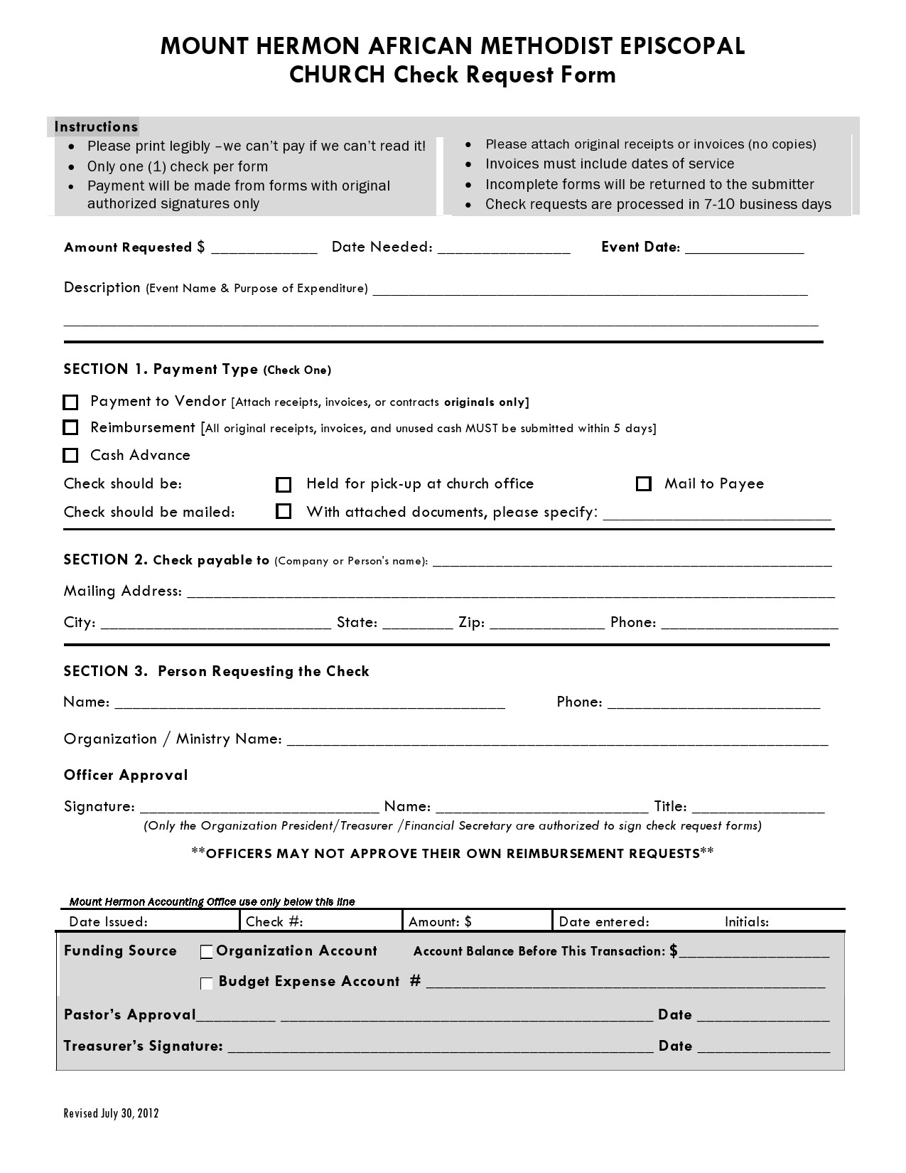Free check request form 15