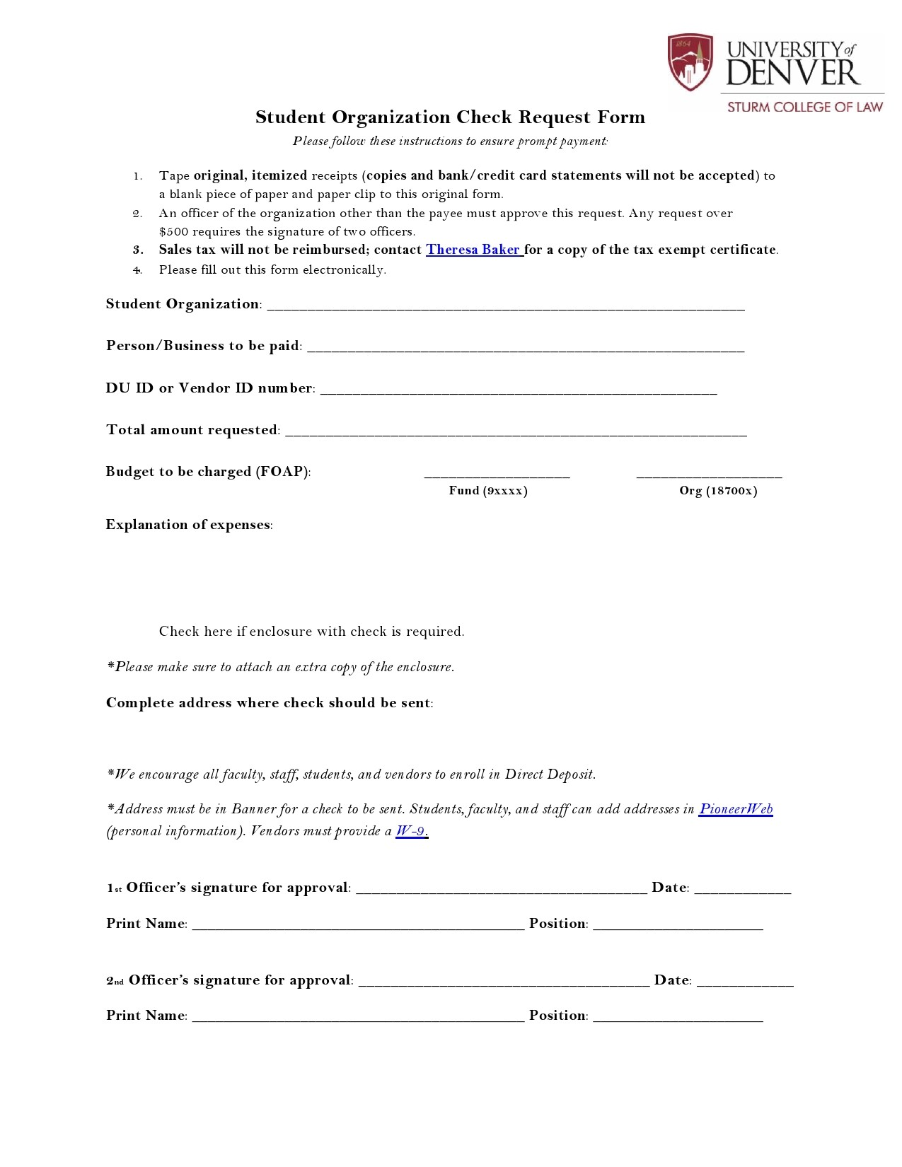 Free check request form 19