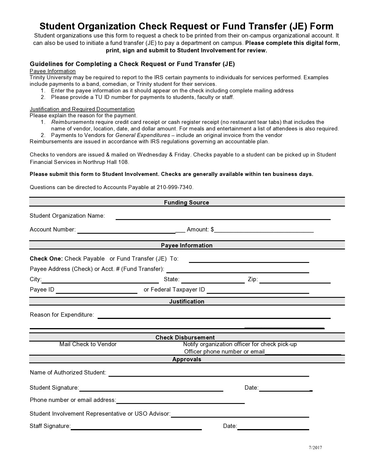 Free check request form 22