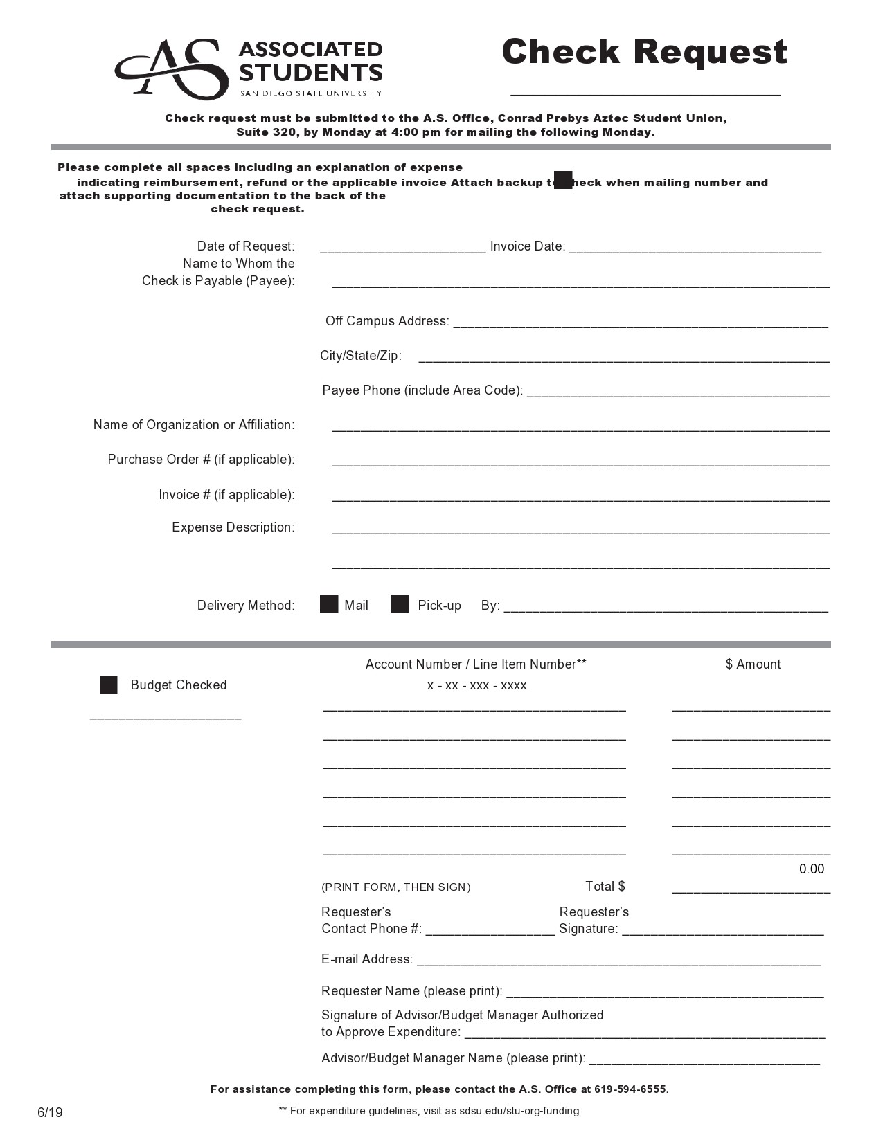Free check request form 27
