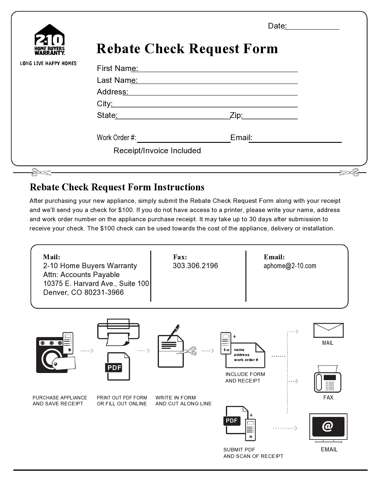 Free check request form 29