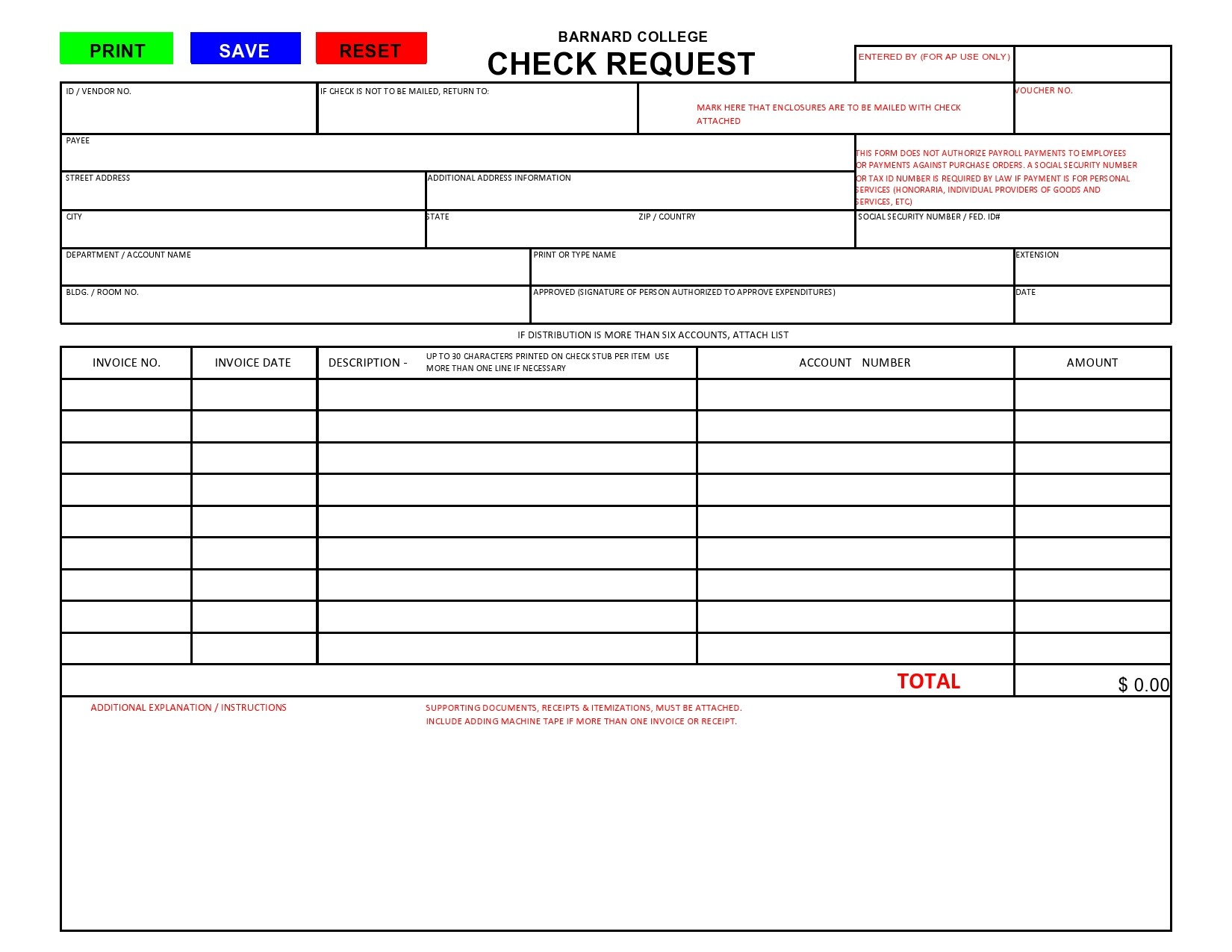 Free check request form 33