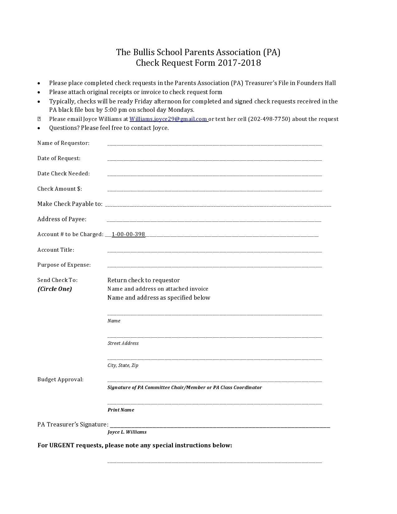 Free check request form 38