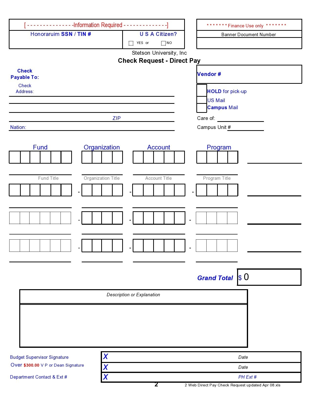 Free check request form 42