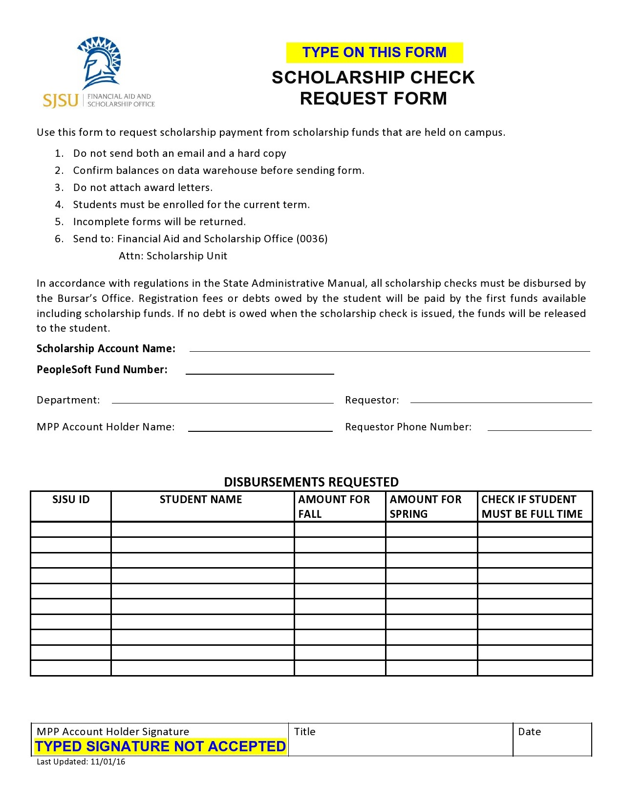 Free check request form 48