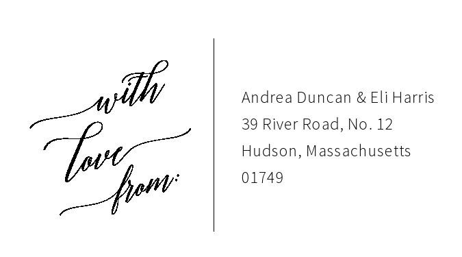 Free envelope address template 01