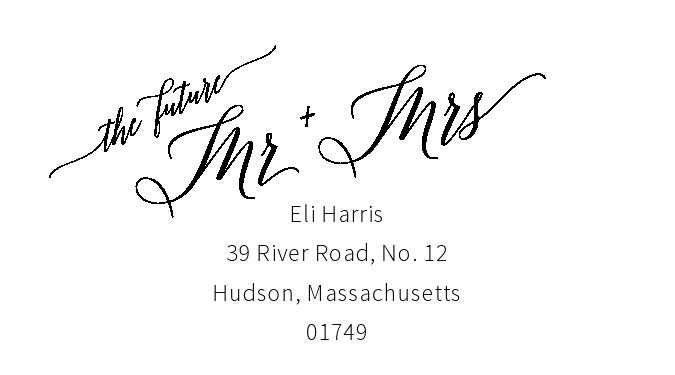 Free envelope address template 02