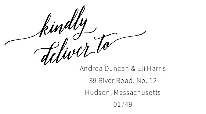 Free envelope address template 03