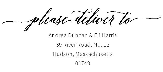 Free envelope address template 05
