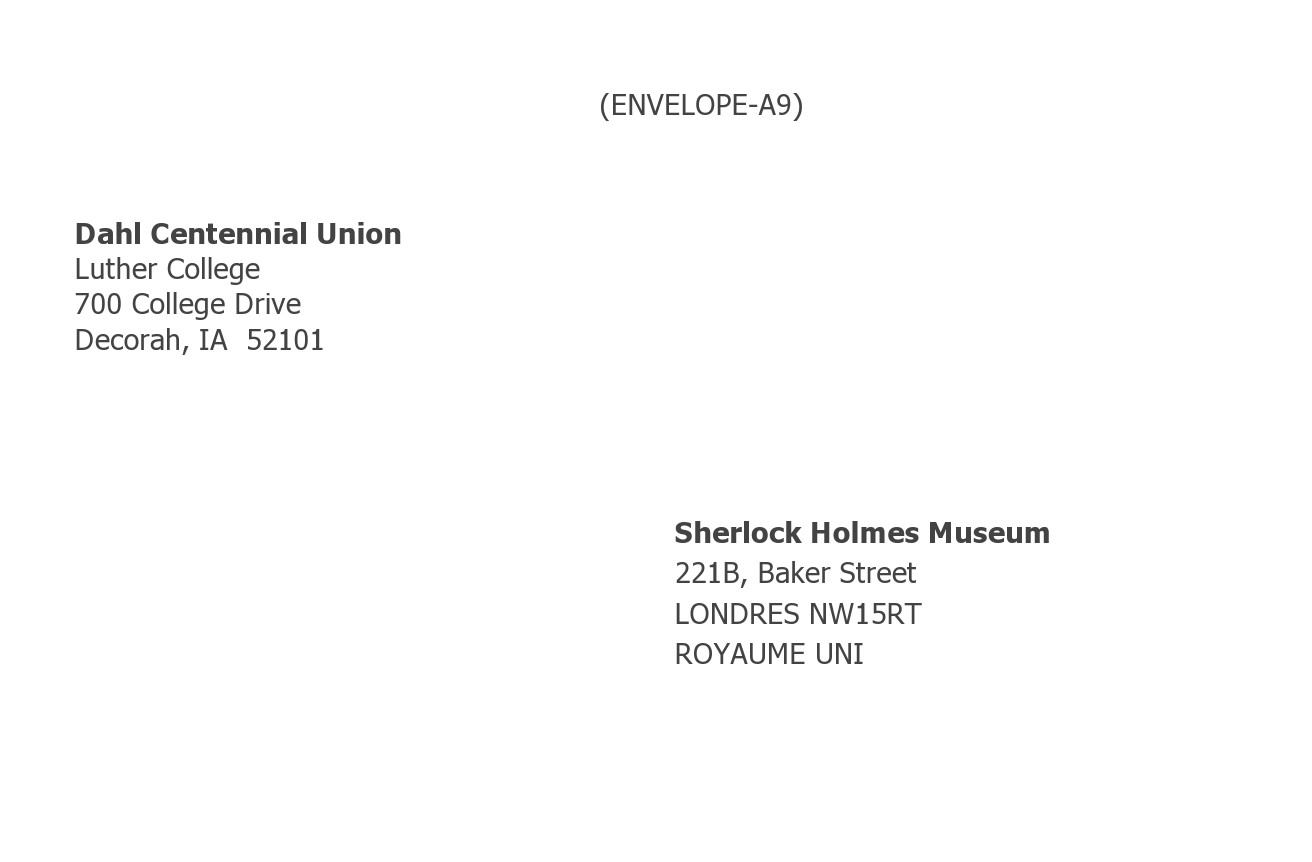 Free envelope address template 06