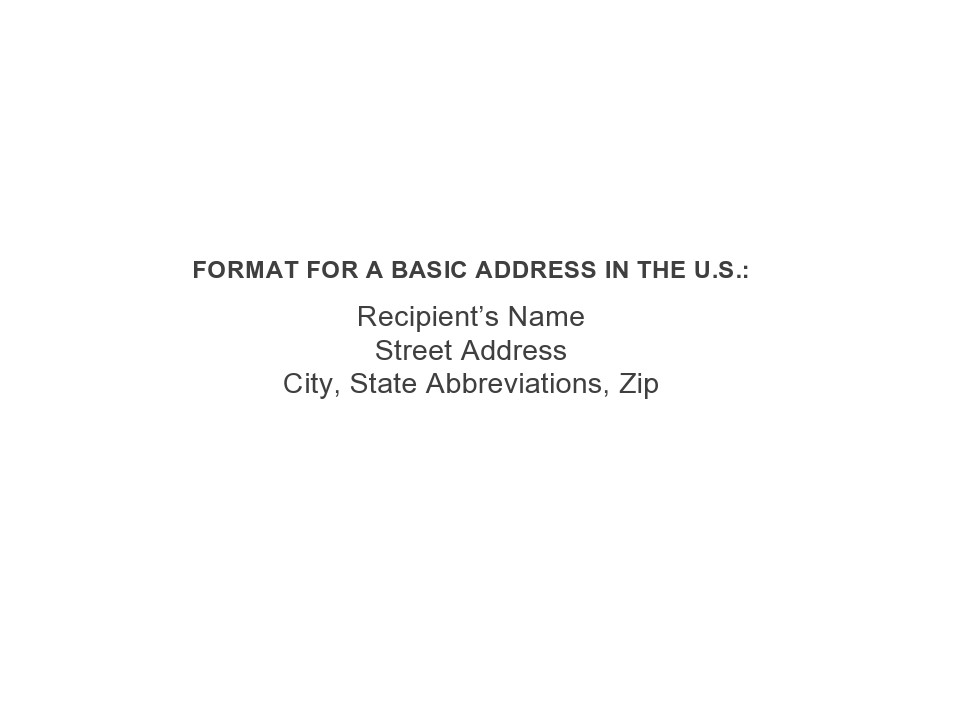 Free envelope address template 08