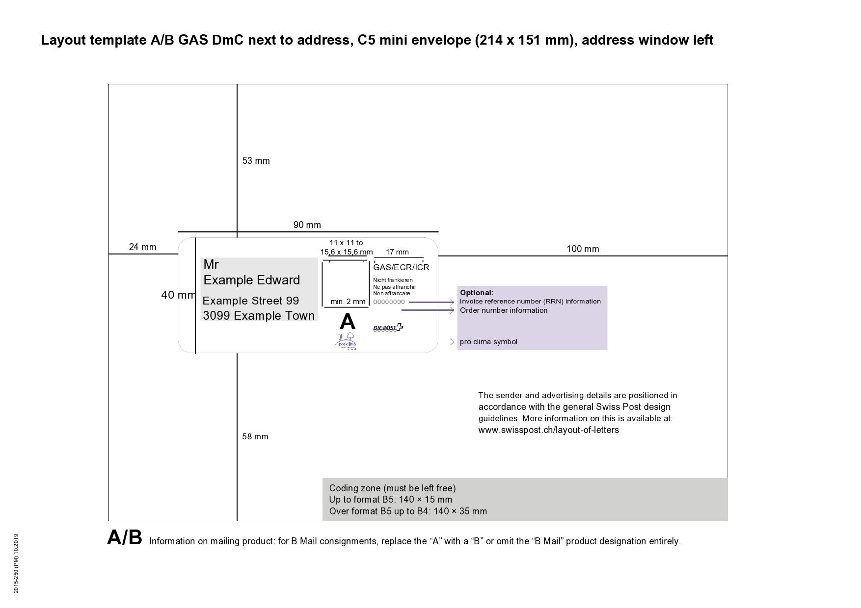 Free envelope address template 11