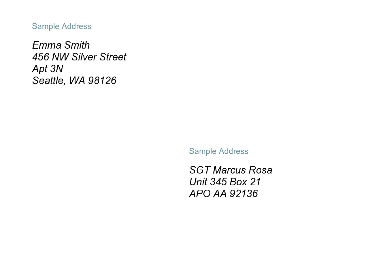 Free envelope address template 12