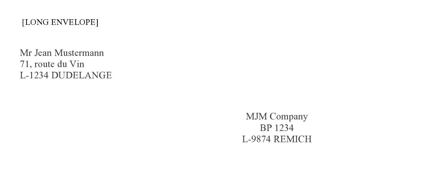 Free envelope address template 14