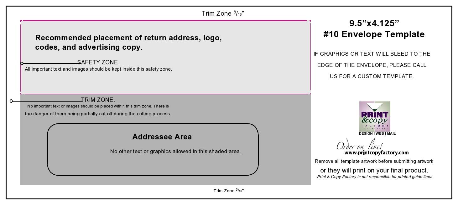 Free envelope address template 15
