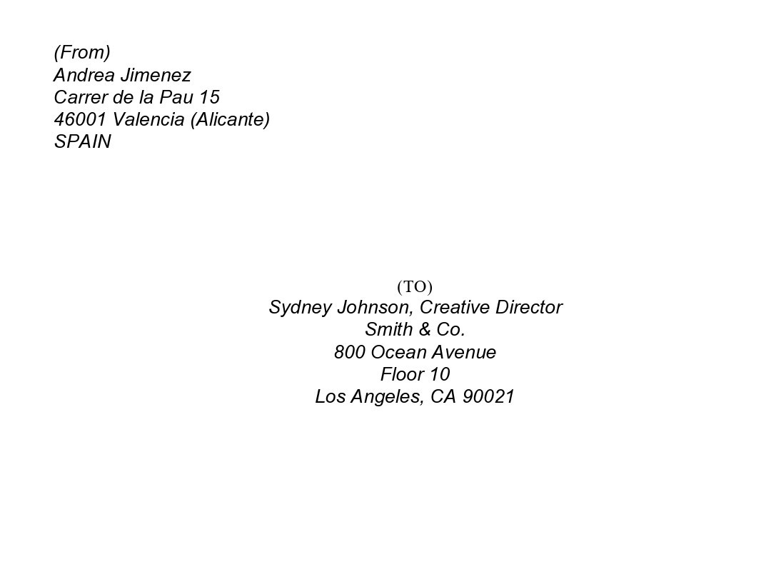 Free envelope address template 17