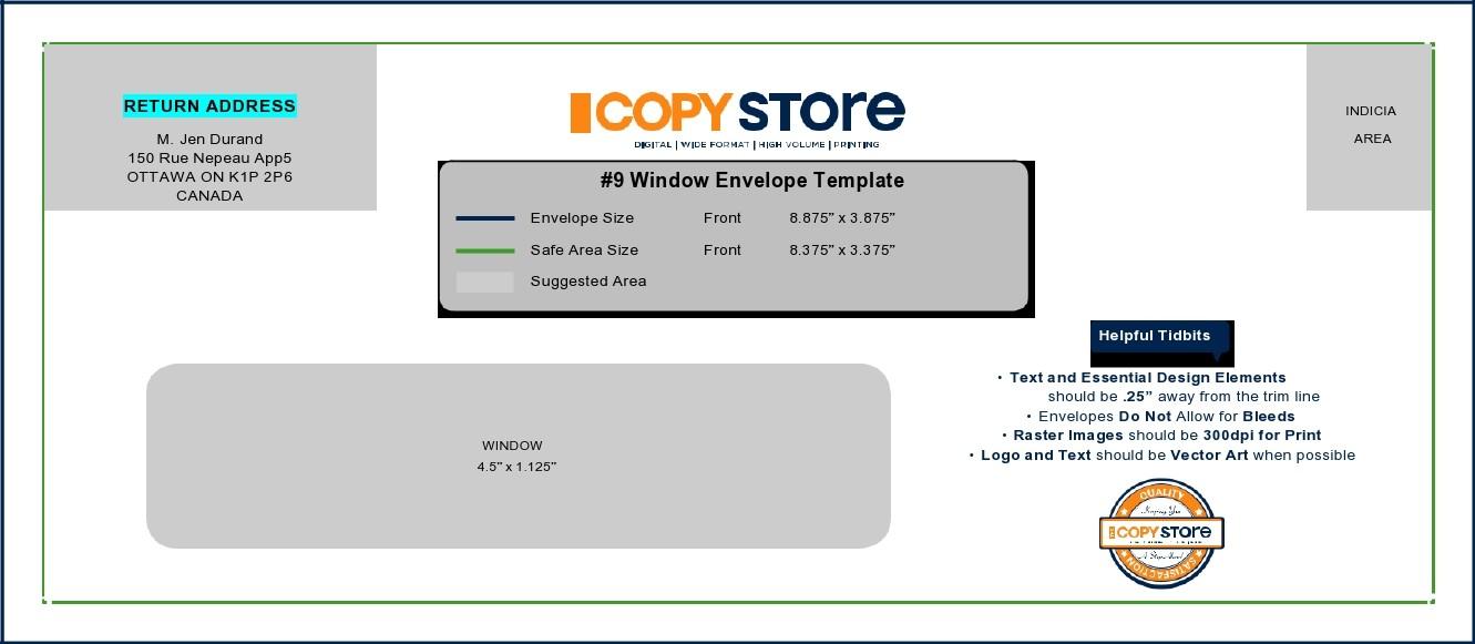 Free envelope address template 22