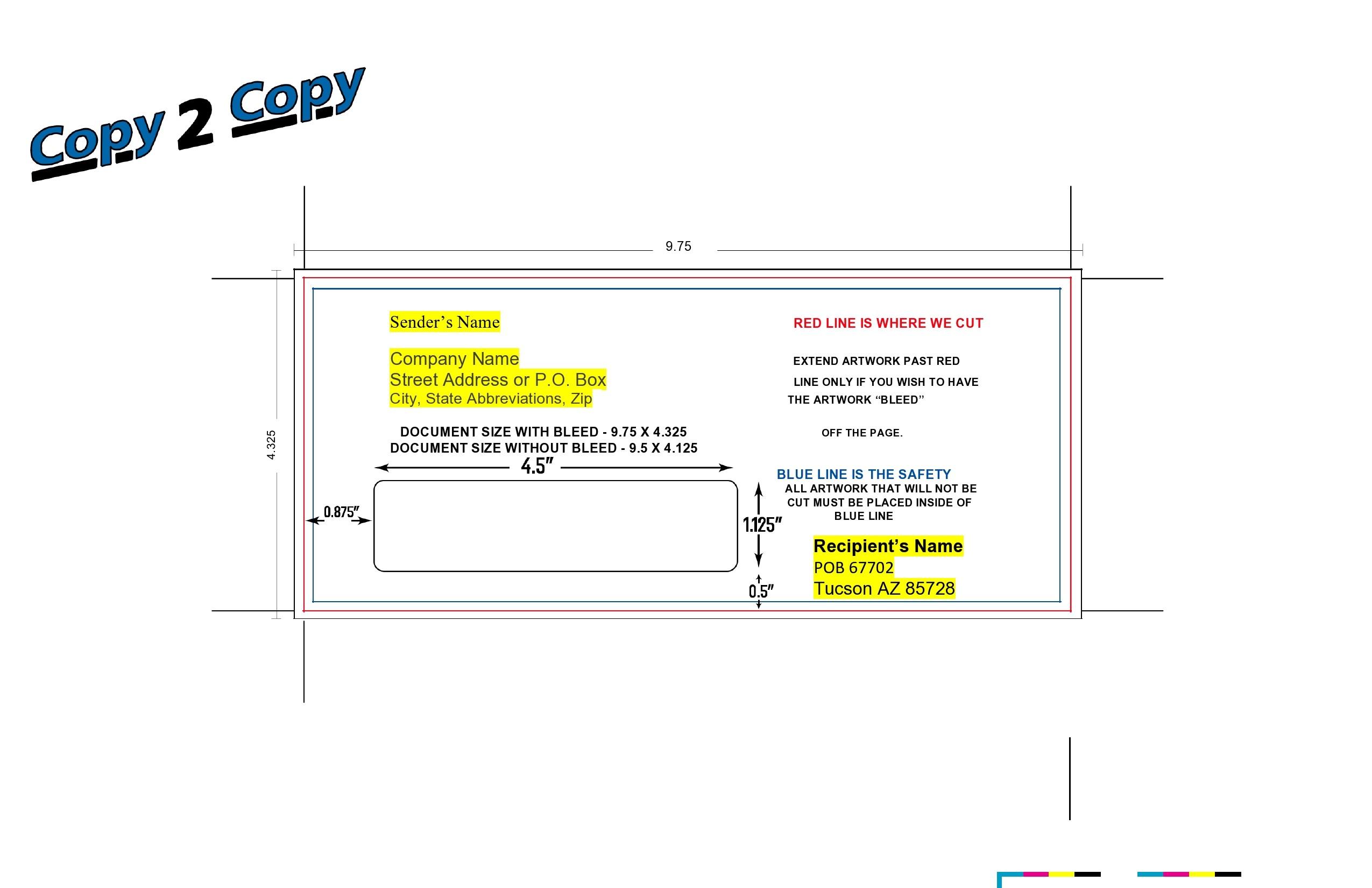 Free envelope address template 25
