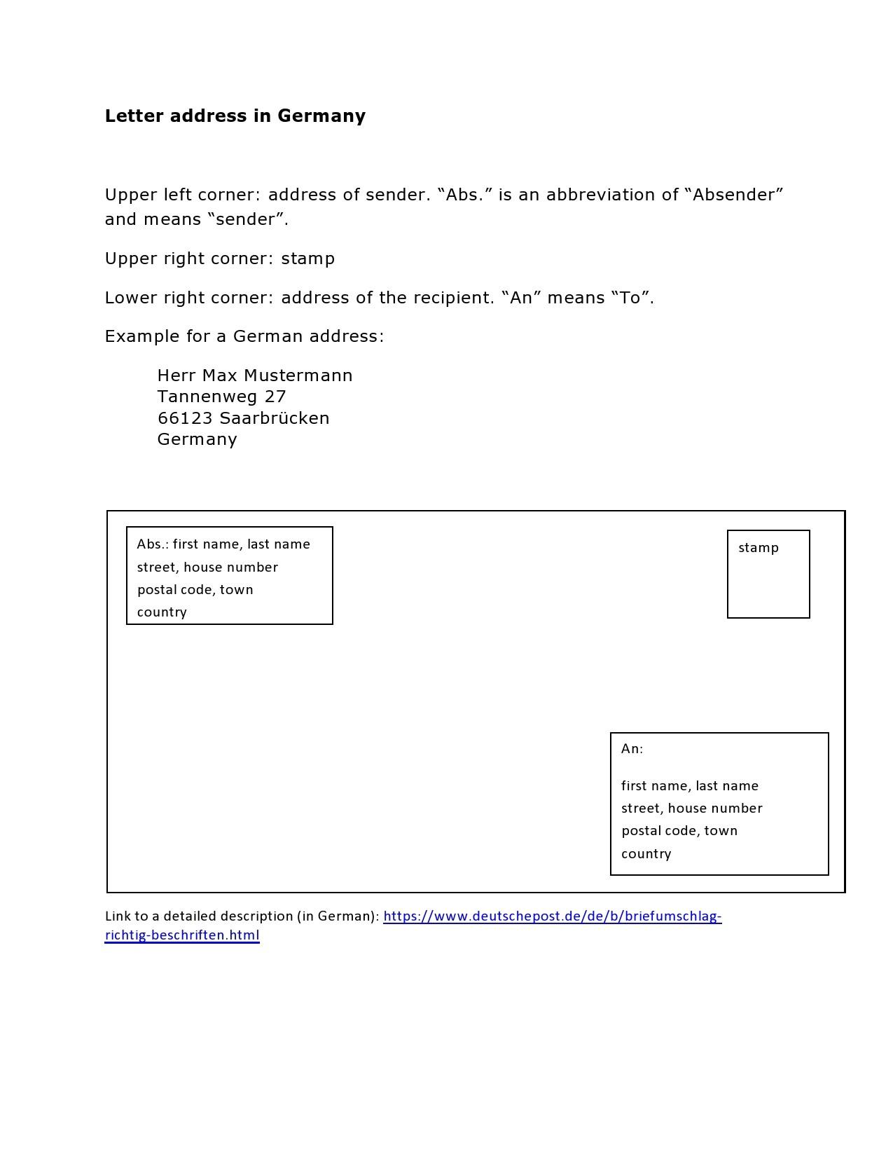 Free envelope address template 30