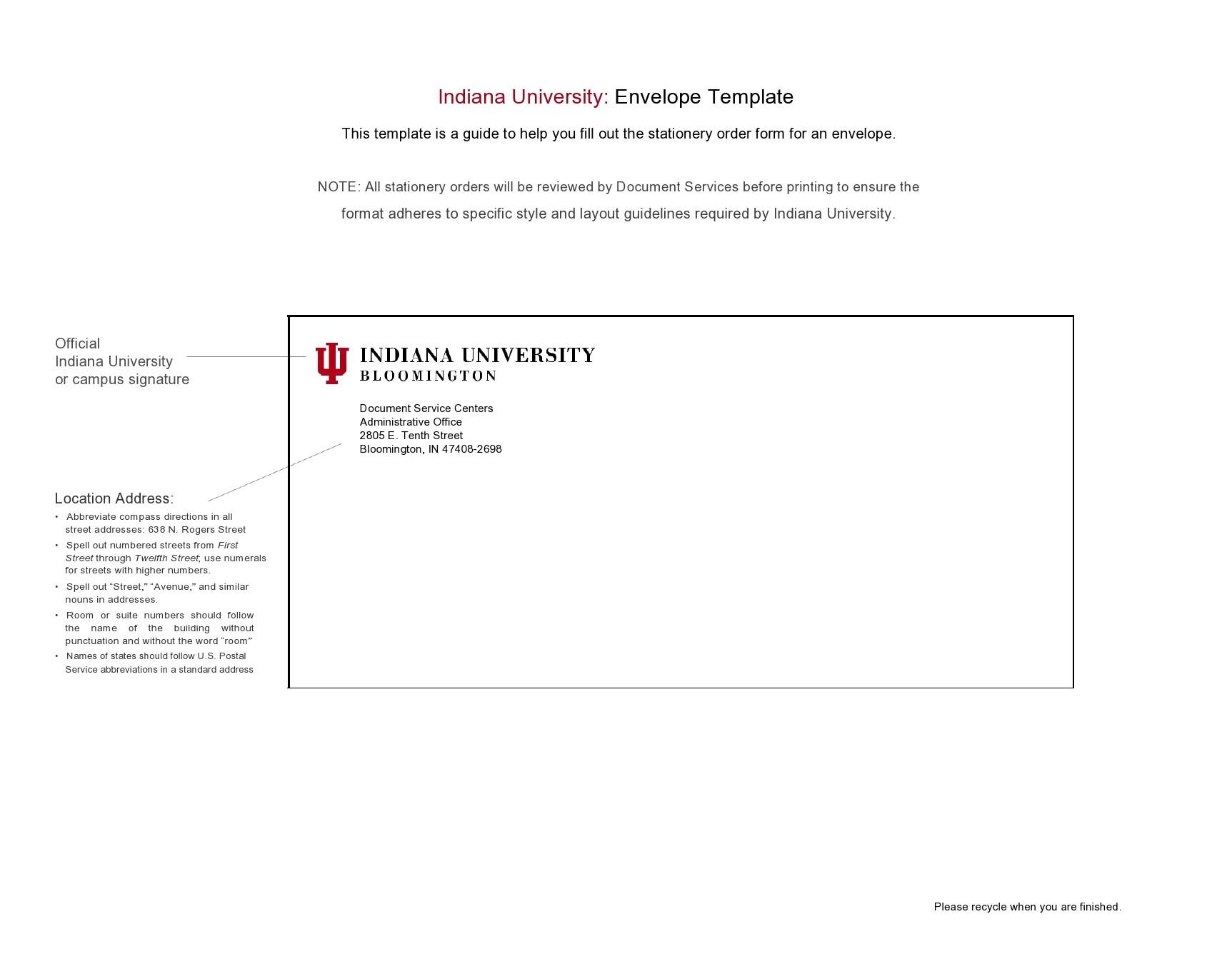 Free envelope address template 31