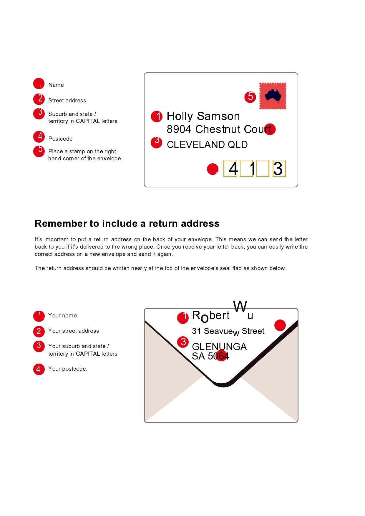 Free envelope address template 32