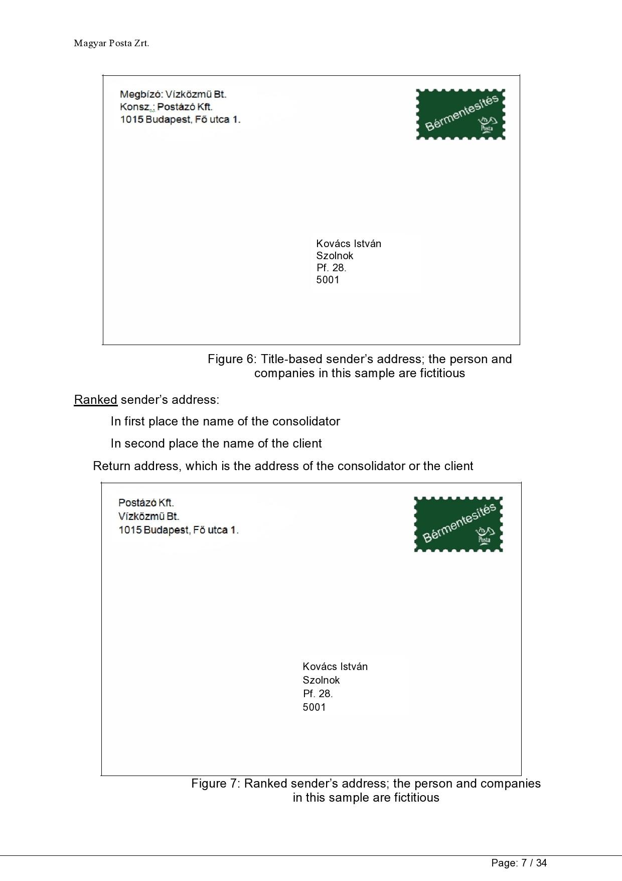 Free envelope address template 34
