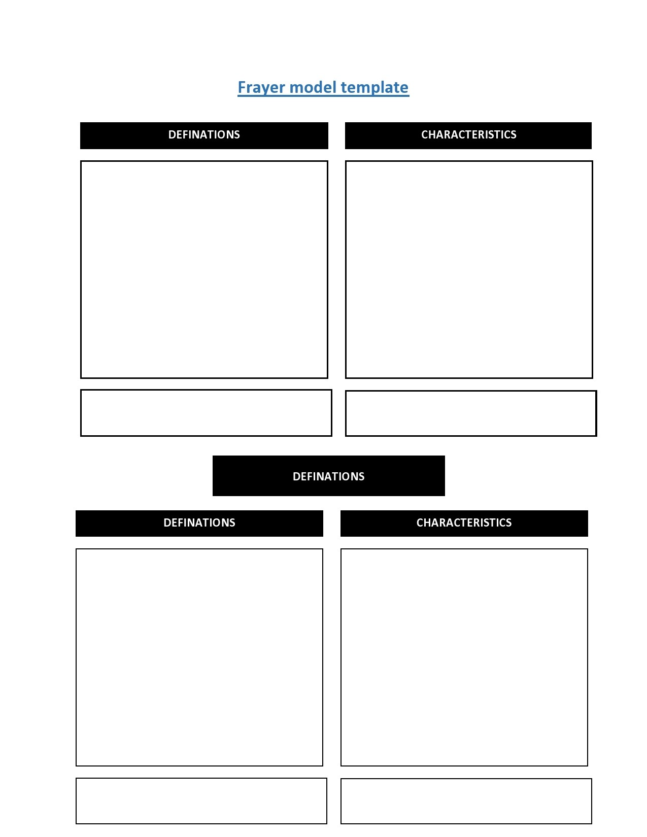 Free frayer model template 05