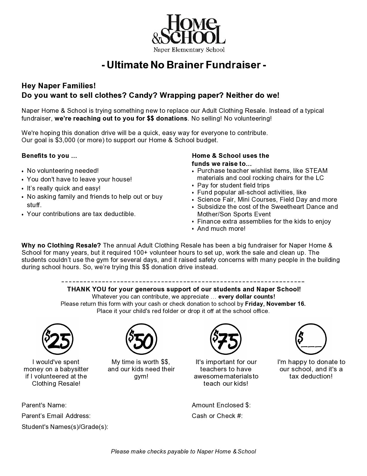 Free fundraiser flyer 15