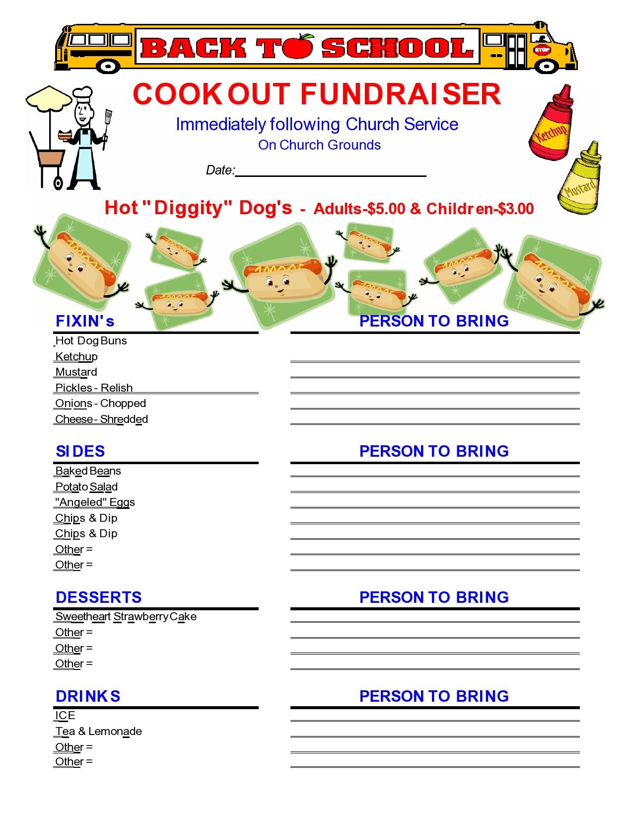 Free fundraiser flyer 16