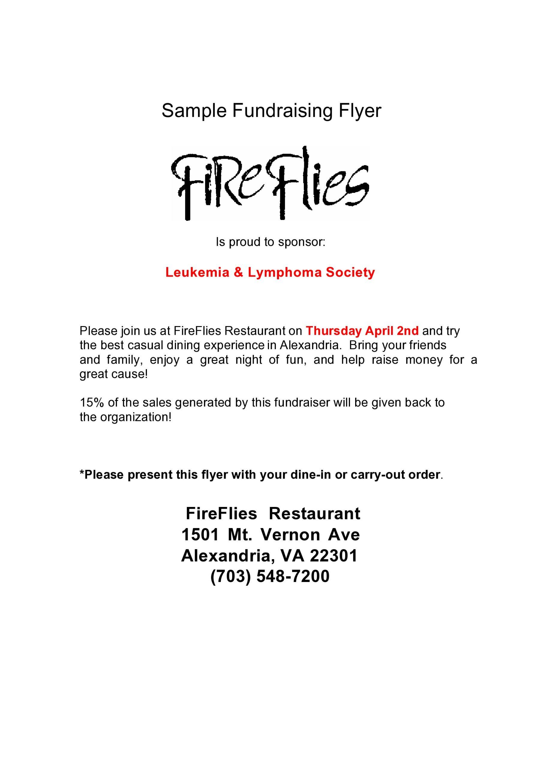 Free fundraiser flyer 17