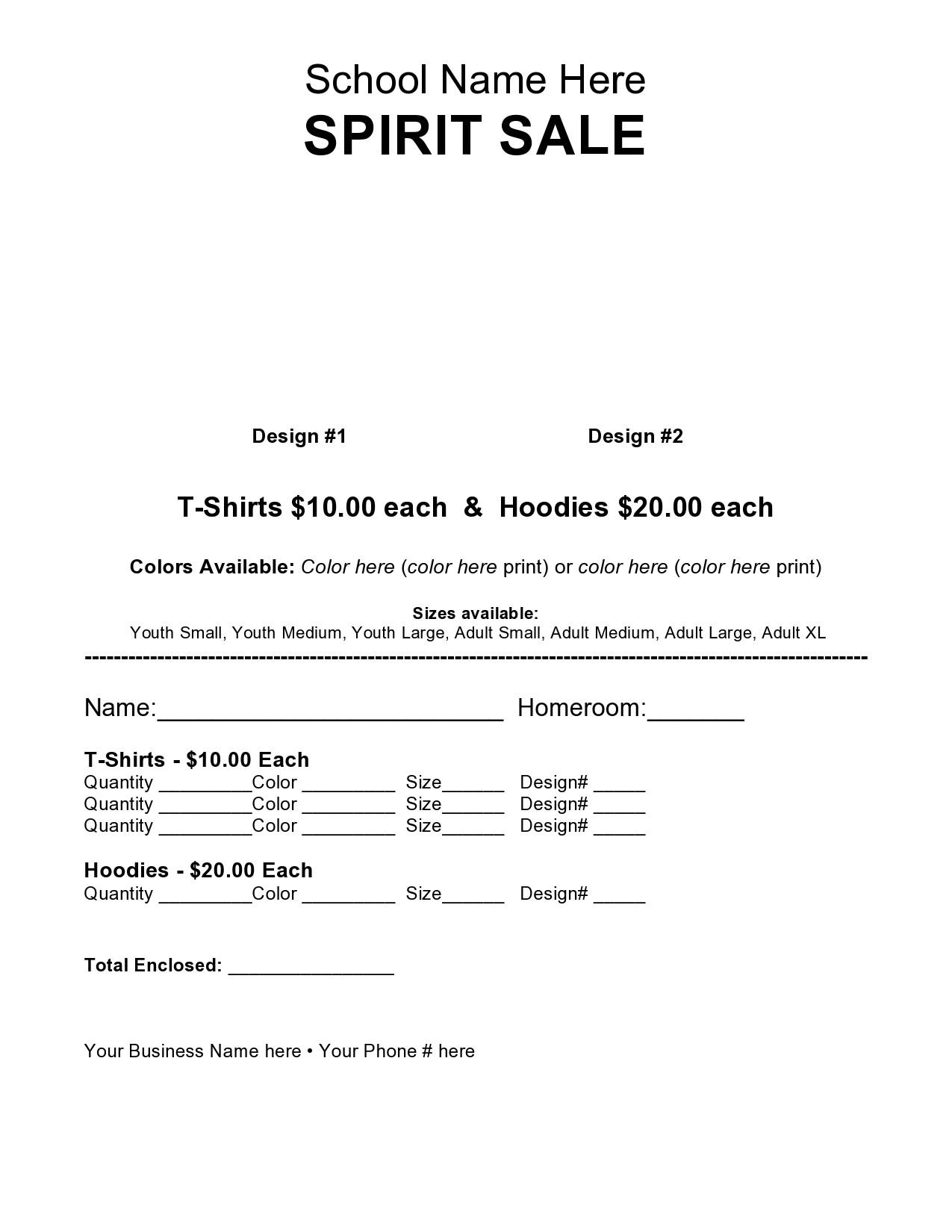 Free fundraiser flyer 21