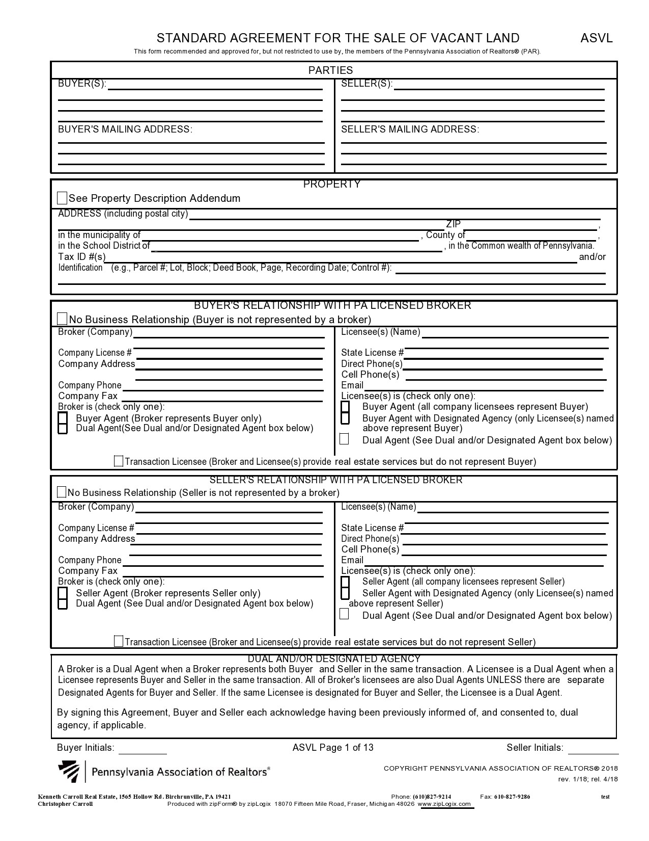 Free land contract form 49