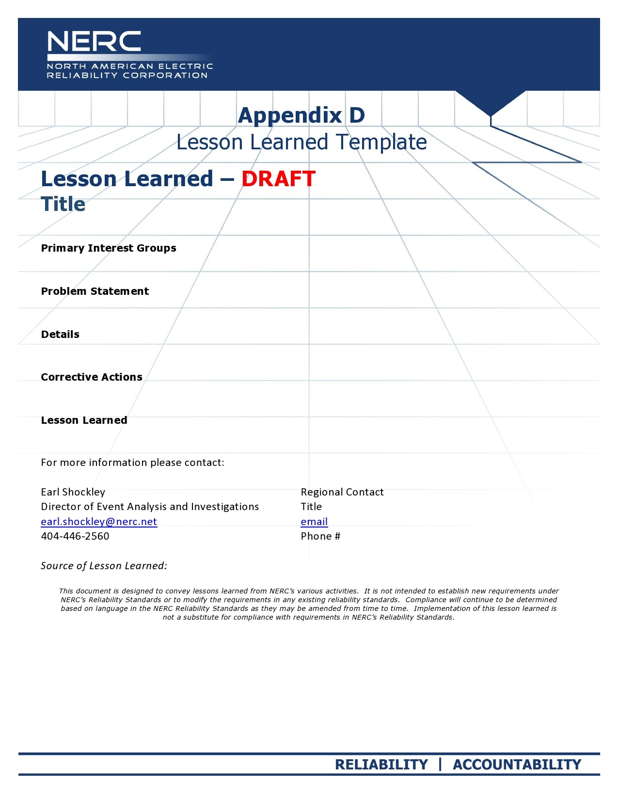 Free lessons learned template 02