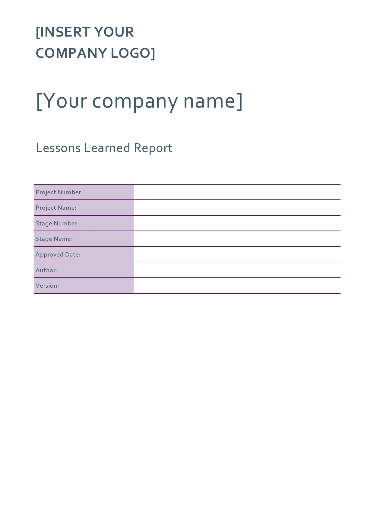 Free lessons learned template 23