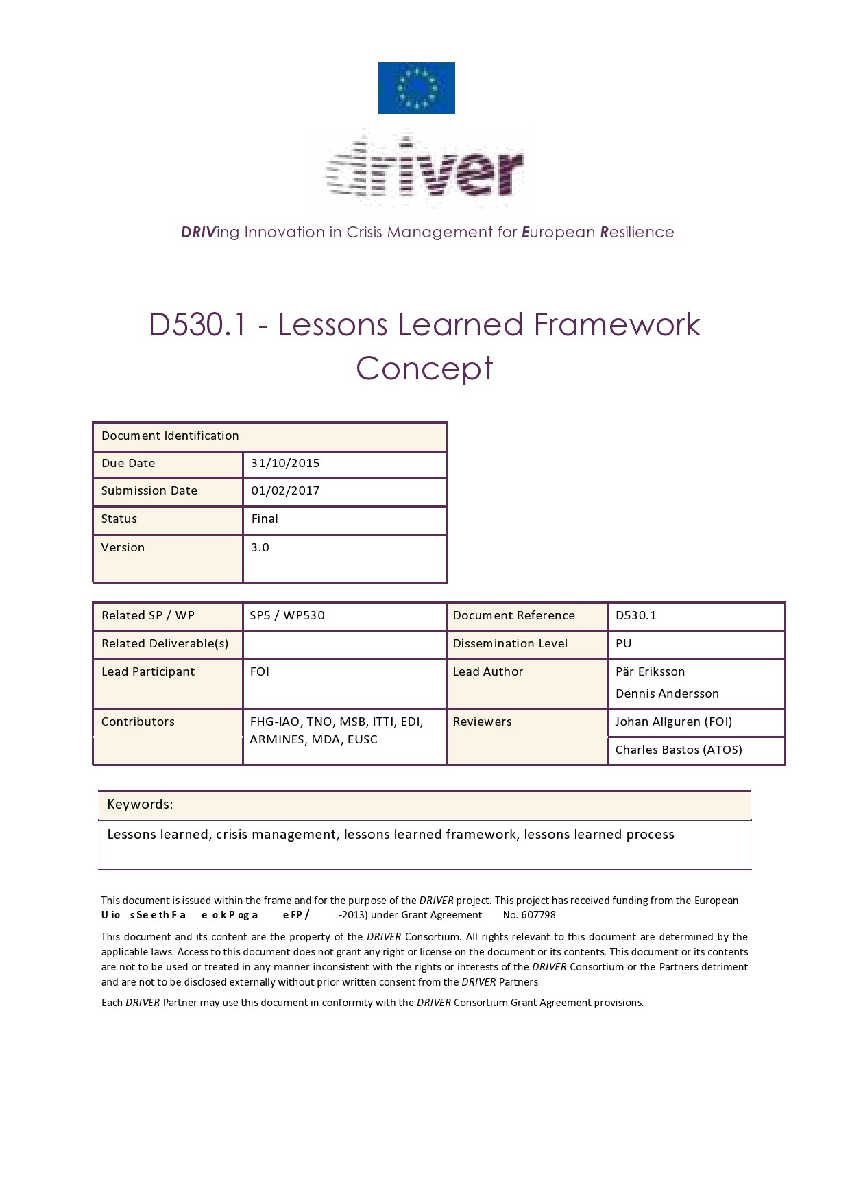 Free lessons learned template 34