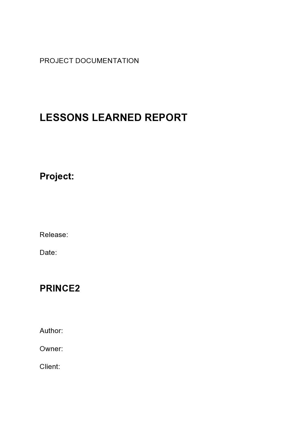 Free lessons learned template 37