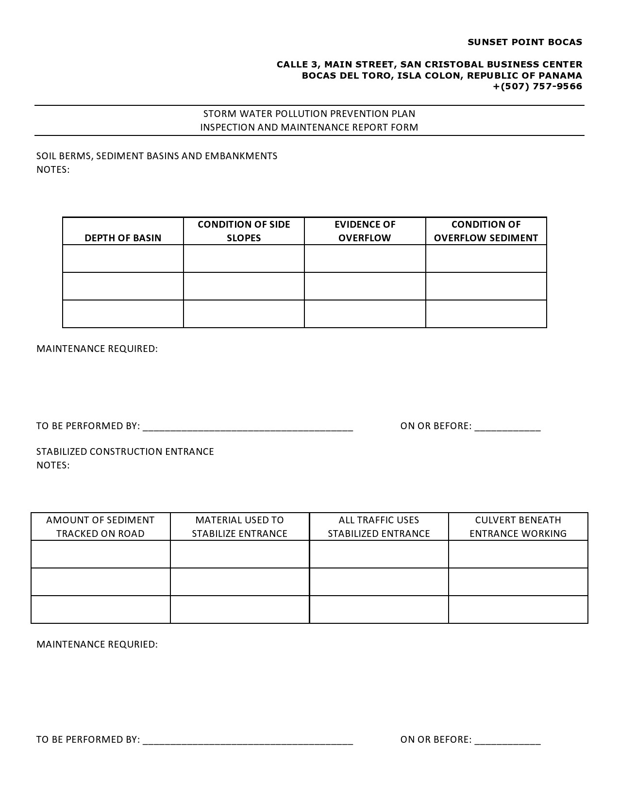 Free maintenance report form 26